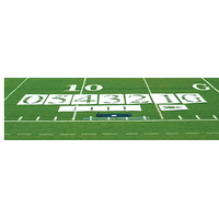 Fisher Athletic Team Field Stencil Set