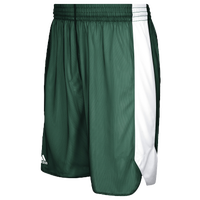 adidas Team Crazy Explosive Reversible Shorts - Boys' Grade School - Dark Green / White