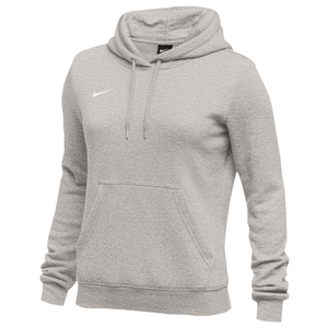 Nike Team Club Fleece Hoodie - Women's - Grey Heather/White