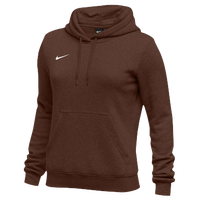 Nike Team Club Fleece Hoodie - Women's - Brown / Brown