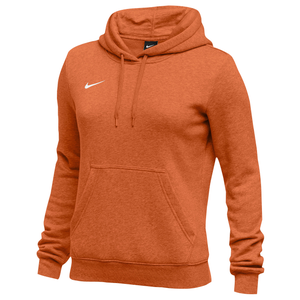 Nike Team Club Fleece Hoodie - Women's - Orange/White
