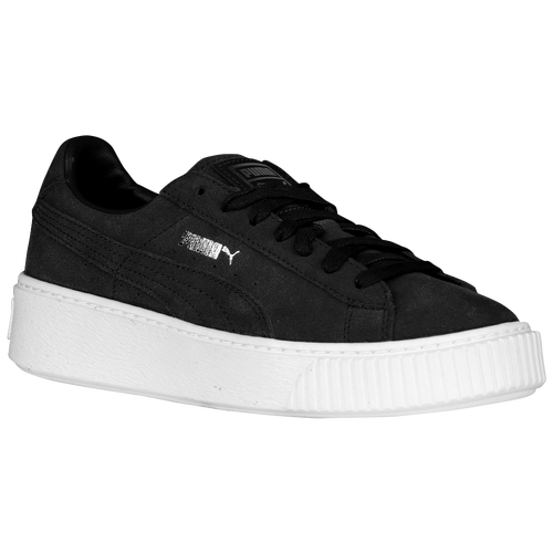 puma basket platform schwarz lack