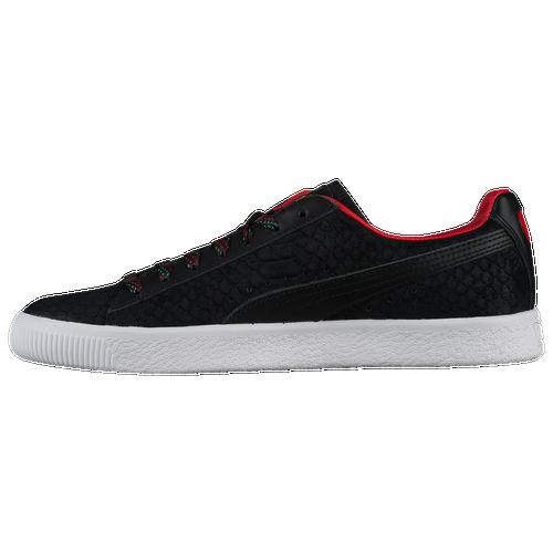 PUMA Clyde - Men s - Basketball - Shoes - Black Hi Risk Red c5e59ea8e