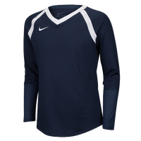 Nike Team Agility Long Sleeve Jersey - Girls' Grade School - Navy / White