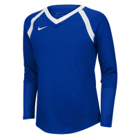 Nike Team Agility Long Sleeve Jersey - Girls' Grade School - Blue / White