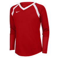 Nike Team Agility Long Sleeve Jersey - Girls' Grade School - Red / White