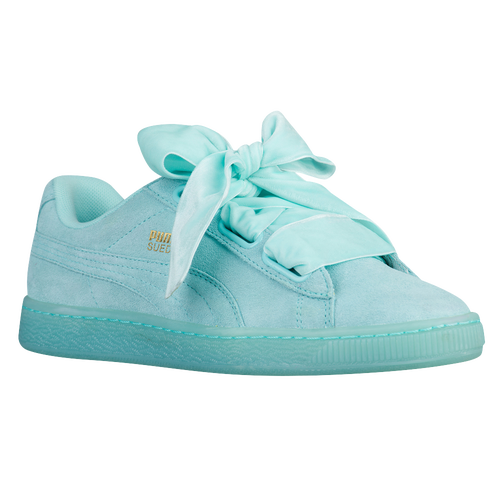 puma basket heart blau