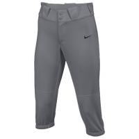 Nike Team Diamond Invader 3/4 Pants - Girls' Grade School - Grey / Grey