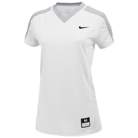 Nike Team Dri-FIT Game Top - Girls' Grade School - White / Grey
