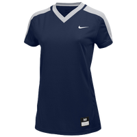 Nike Team Dri-FIT Game Top - Girls' Grade School - Navy / Grey