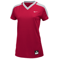 Nike Team Dri-FIT Game Top - Girls' Grade School - Red / Grey