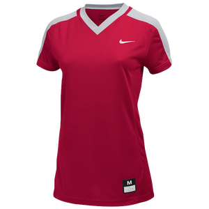 Nike Team Dri-FIT Game Top - Girls' Grade School - Scarlet/Blue Grey/White