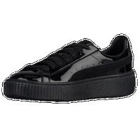 PUMA Basket Platform - Women s - Casual - Shoes - Black Black White 76f7ed261
