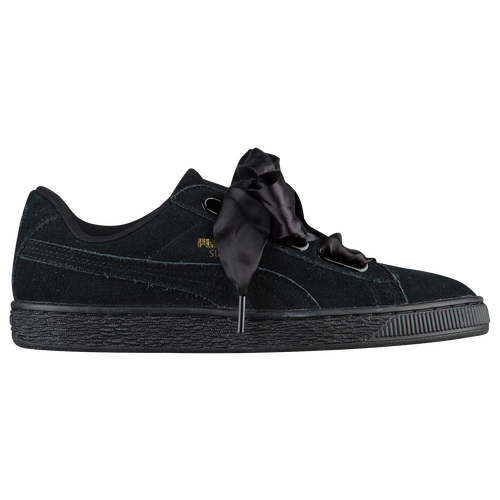 puma suede total black