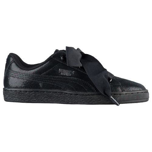 PUMA Basket Heart Night Sky - Women's - All Black / Black