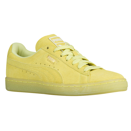 puma suede yellow