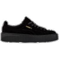 70bfbc39b6 PUMA Fenty Velvet Creeper - Women's - All Black / Black