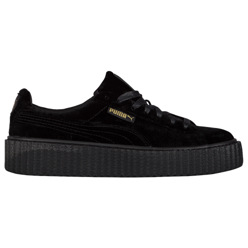 puma fenty velvet creeper women 39 s casual shoes black black black. Black Bedroom Furniture Sets. Home Design Ideas