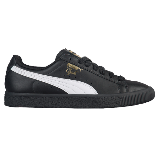 PUMA Clyde - Boys' Grade School - Black / White
