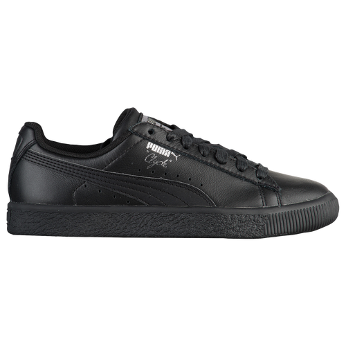 PUMA Clyde - Boys  Grade School - Casual - Shoes - Black Black Foil 02c640427