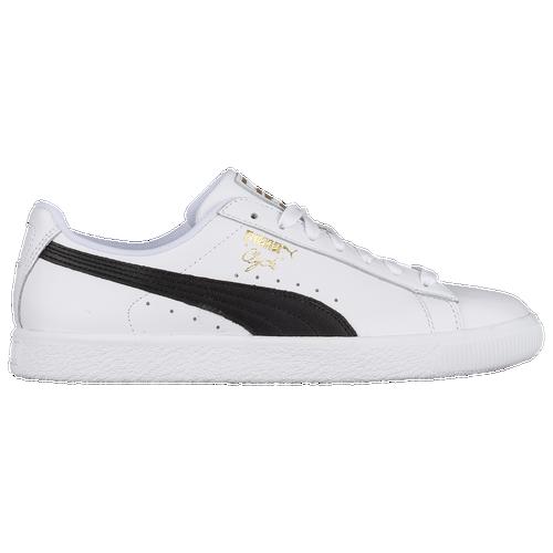 PUMA Clyde - Men s - Casual - Shoes - White Black Team Gold a5178e525