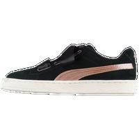 587dabdde3d8 PUMA Suede Heart - Girls  Grade School - Black   Pink