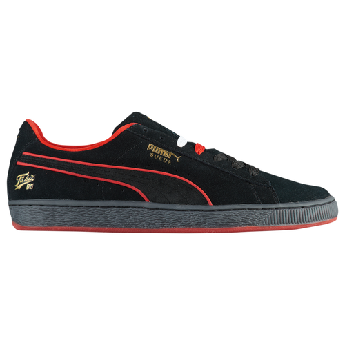 ad6b0ad43e12 PUMA Suede Classic - Men s - Casual - Shoes - Black High Risk Red Gold
