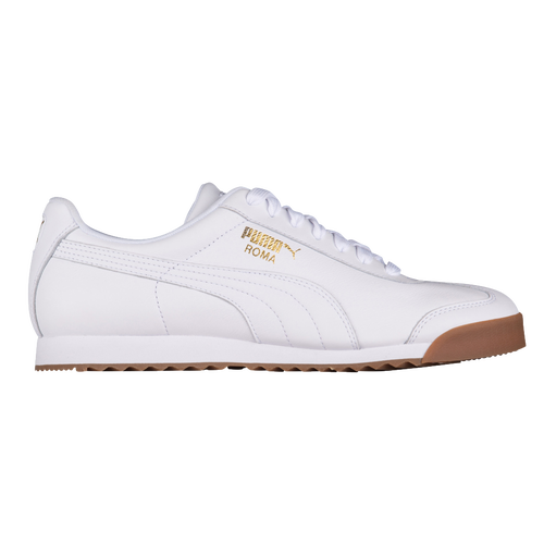 16648624380 PUMA Roma Basic - Men s - Casual - Shoes - White Team Gold