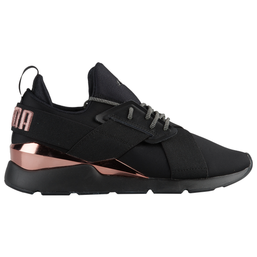 c6a98ddc557 PUMA Muse Metal - Women s - Casual - Shoes - Black Rose Gold