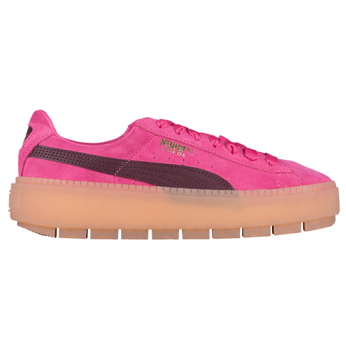 5de7ed21d2b PUMA Suede Platform Trace Block - Women s - Casual - Shoes - Carmine  Rose Winetasting