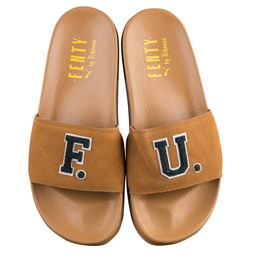 4115410fad92 PUMA Leadcat Fenty FU Slide - Women s - Casual - Shoes - Golden Brown Scarab