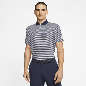 Nike Dry Victory Stripe Golf Polo - Men's - College Navy/White