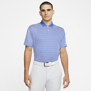 Nike Dry Victory Stripe Golf Polo - Men's - Game Royal/White