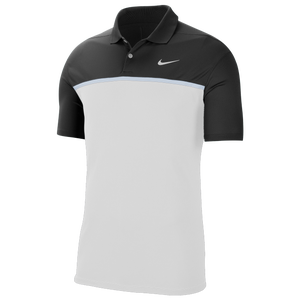 Nike Dry Victory Colorblock Golf Polo - Men's - Black/White/Sky Grey