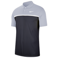 Nike Dry Victory Colorblock Golf Polo - Men's - Grey / Navy