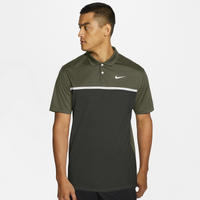 Nike Dry Victory Colorblock Golf Polo - Men's - Olive Green