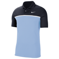 Nike Dry Victory Colorblock Golf Polo - Men's - Black / Light Blue