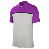 Nike Dry Victory Colorblock Golf Polo - Men's - Grey / Purple