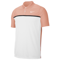 Nike Dry Victory Colorblock Golf Polo - Men's - Pink / White