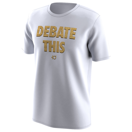 Nike KD Debate This T-Shirt - Men\u0027s - Kevin Durant - White / Gold