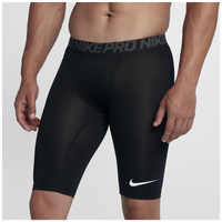 "Nike Pro Compression 9"" Shorts - Men's - Black / Grey"