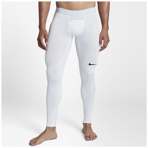 Nike Pro Compression Tights - Men's - White/Pure Platinum/Black