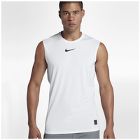 Nike Pro Fitted Sleeveless Top - Men's - White / Black