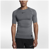 Nike Pro Compression Short Sleeve Top - Men's - Grey / Grey