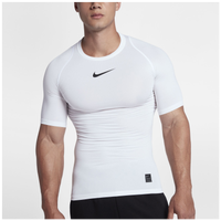Nike Pro Compression Short Sleeve Top - Men's - White / Black
