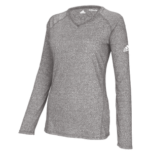 adidas Team Climalite Long Sleeve T-Shirt - Women's - Athletic Grey Heathered