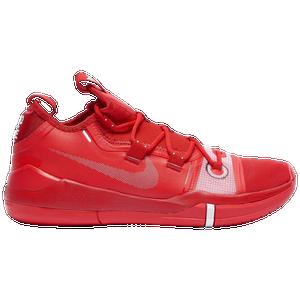 Nike Kobe Ad Men S Basketball Shoes Bryant Kobe University Red Metallic Silver White