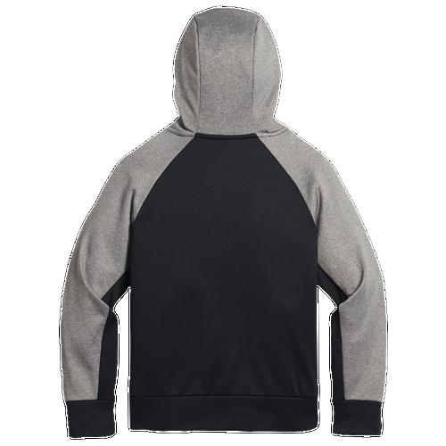 Nike Therma Fleece Pullover Hoodie - Boys' Grade School - Black / Grey
