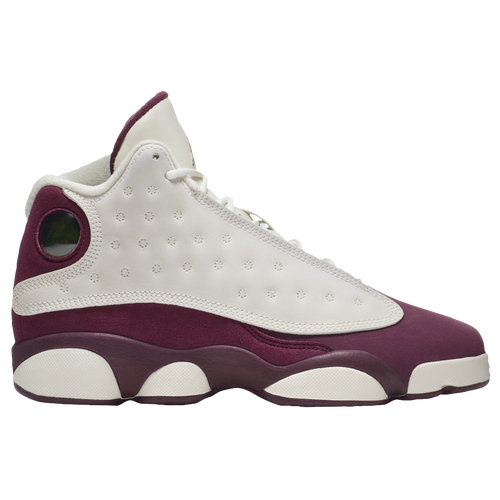 e1918594b Jordan Retro 13 - Girls  Grade School - Basketball - Shoes - Sail Metallic  Red Bronze Bordeaux
