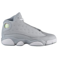 jordan shoes for girls white. jordan retro 13 - girls\u0027 preschool grey / white shoes for girls r